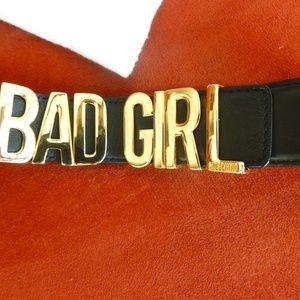 Unique Authentic MOSCHINO buckle logo women belt.